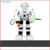 Smart Robot Remote Control Shooting Function English Version Dance Sing Songs Colorful Light Free Shipping