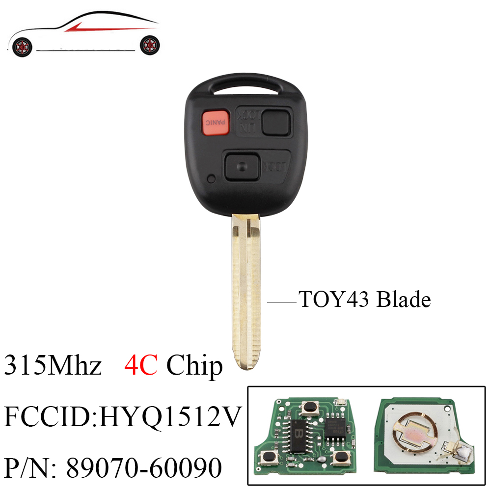 2 Replacement For 1998 1999 2000 2001 2002 Toyota Land Cruiser Key Fob Remote