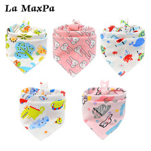 1PC Cartoon riangle Reusable Baby Bibs Washable Burp Cloth Scarf Children Baberos Babador Bandana