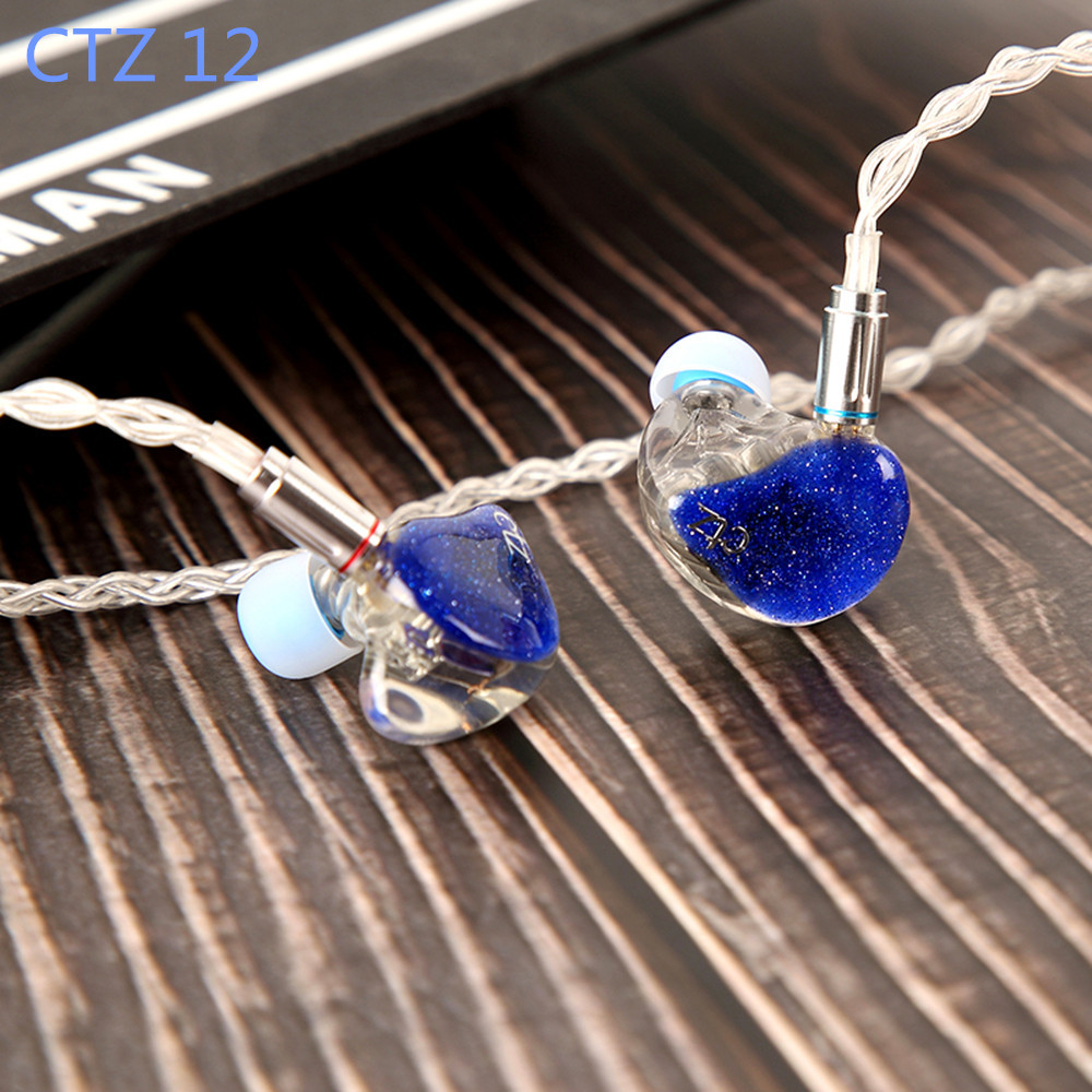 Newest CTZ 12 24BA One side 12BA in Ear Earphone Custom Made Balanced Armature Around Ear