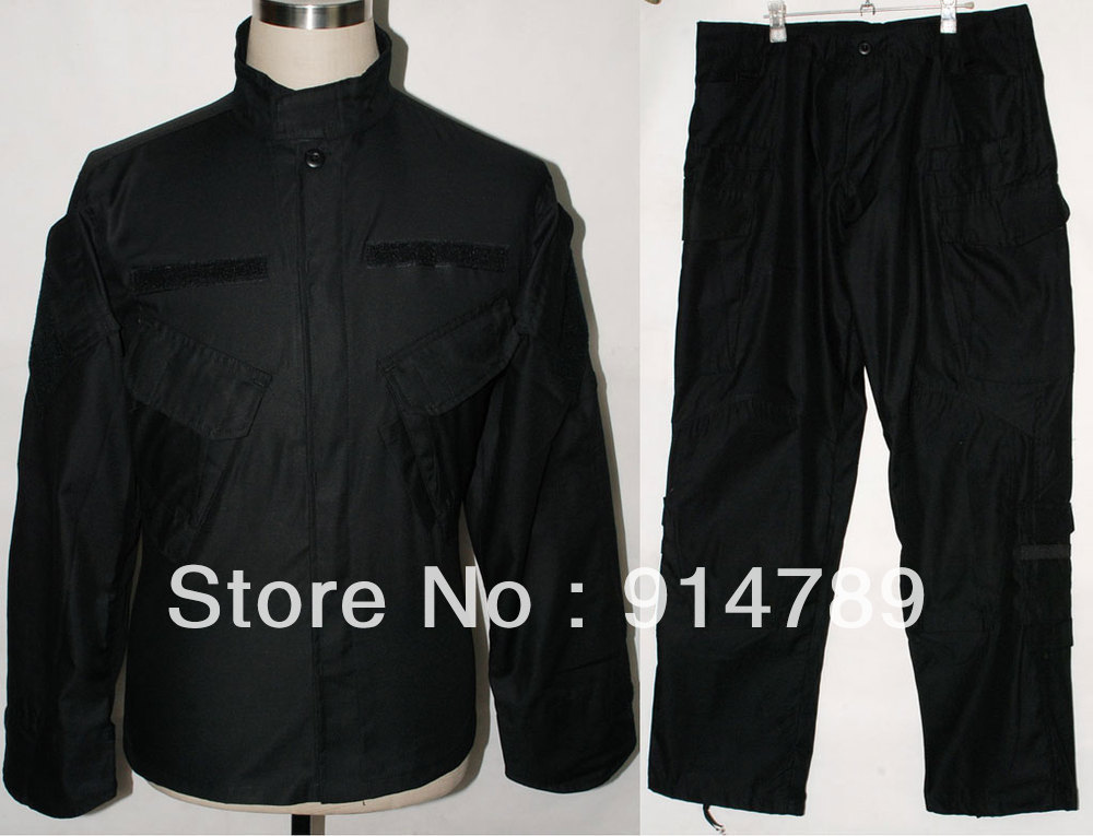 Armée COMBAT militaire uniforme manteau veste pantalon pantalon noir dans les tailles-31877