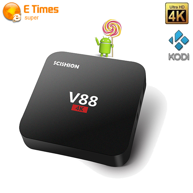 Mejor precio V88 Android Tv Box Rockchip 3229 Quad-Core 1 GB 8 GB Inteligente Caja de la Tv WiFi HDMI 3D 2.0 DLNA 4 K Android 5.1 Tv Set-top caja