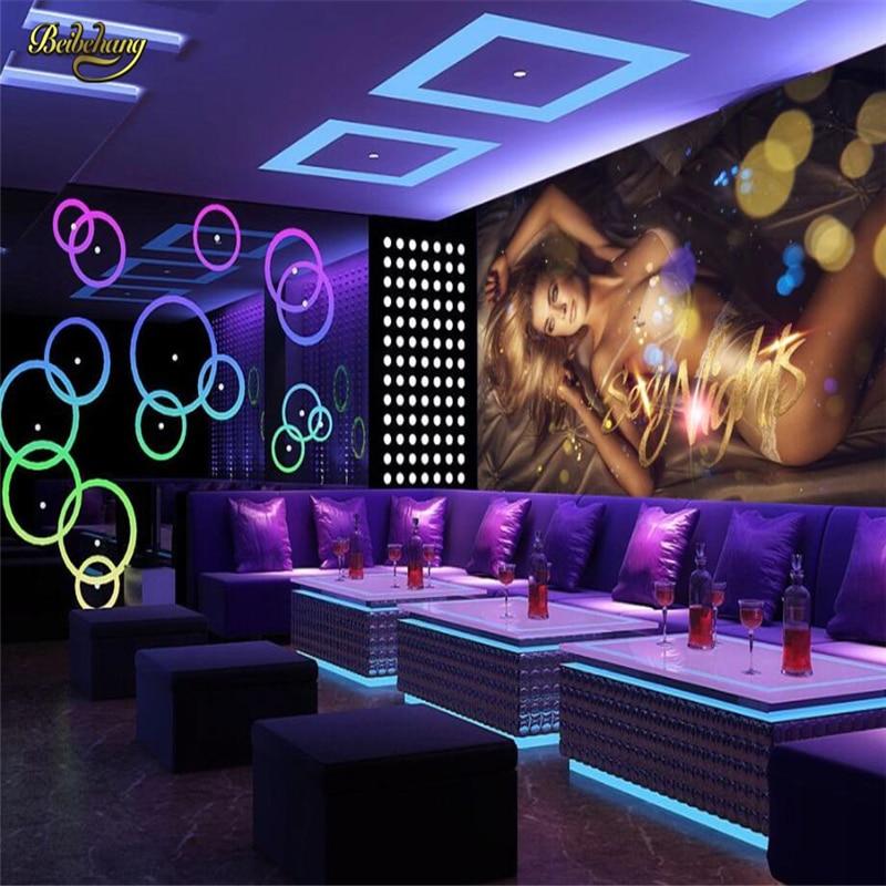 Beibehang Sexy Hotel Nightclub KTV Custom Papel De Parede 3d Photo Wallpaper Living Room Sofa TV