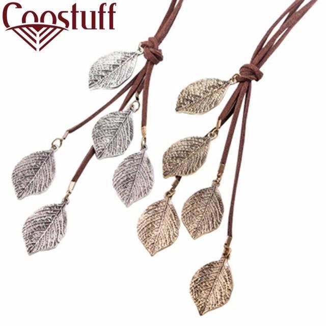 Long Necklace Women Jewelry Vintage multi Leavies necklaces & pendants Fashion C