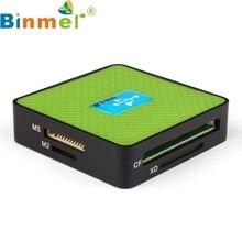 Зеленый USB Все-в-1 3.0 Compact Flash Multi Card Reader CF Адаптер Micro SD MS SD Nov9