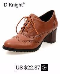 baru 2017 Vintage Persegi Heel Lace Up Wanita Pompa Wanita kasual High  Heels Sepatu Plus Ukuran 34-47 Wanita Bertumit Rendah Oxfords 4b1dfa1265