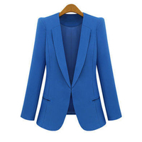 Spring Autumn Fashion Tops Women Slim Blazers Long Sleeve Solid Leisure Western Style Suits Female Notched