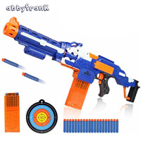 Abbyfrank Soft Bullet Toy Gun Sniper Rifle Plastic Gun & 20 Bullets 1 Target Electric Gun Toy Christmas Birthday Gift Toy