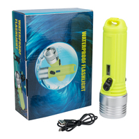 3 Mode XM L2 LED Diving Flashlight Waterproof IPX 68 Dive Underwater 100 Meter Torch Lamp