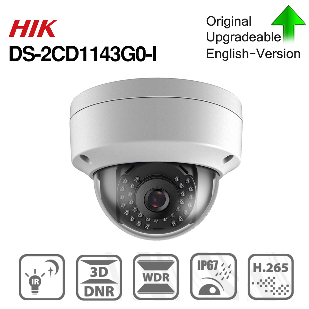 Hikvision DS-2CD1143G0-I POE Camera Video Surveillance 4MP IR Network Dome Camera 30M IR IP67 IK10 H.265+