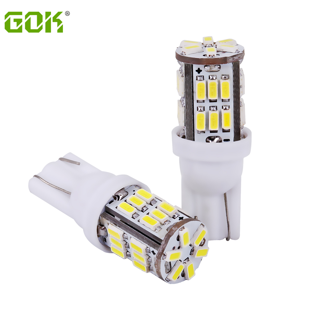 цена на 100pcs/lot T10 30smd LED 194 168 192 w5w led 3014 smd t10 30led Auto Led Car Lighting t10 LED Clearance Bulbs t10 Wedge Lamp