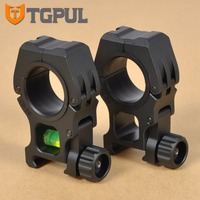 TGPUL See-Through 2 UNIDS Scope Mount 30mm Anillo De Vista Cabe 20mm Mate Para AK Fit carril Del Tejedor de Picatinny Rail Caza