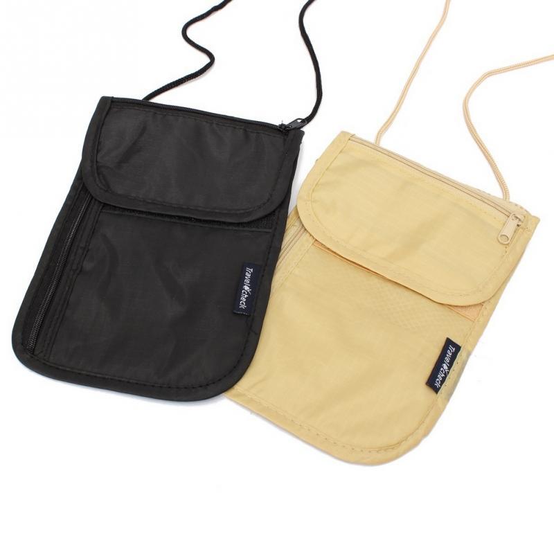 Men Women Passport Bag Neck Hanging Travel Passport Cover Wallet ID Holder Storage Money Bag Multifunction Card Package Hot Sale