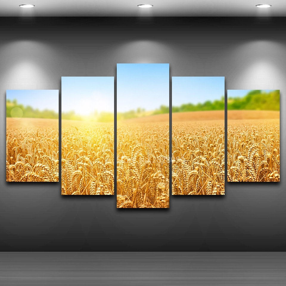 Country Road Sunset Landscape Poster Paintings Living Room Decor ...