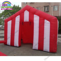 4*4*3m inflatable colorful bouncer house, Inflatable Christmas booth tent for promotion