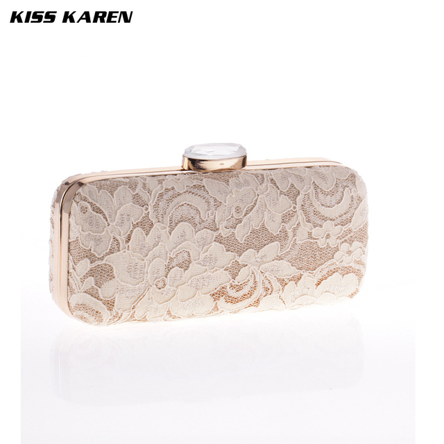 Kiss Karen Sexy Lace Fashion  Trendy Women Clutch embreagem Evening Bag Women Party Clutch Bag Club Elegant Lady Minaudiere