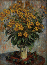 Claude Monet Painting Jerusalem Artichokes High quality Oil Canvas  Landscape Art Reproduction Suppliers