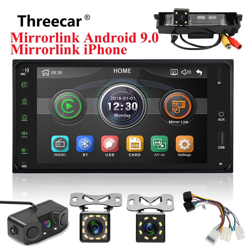 Universal Car Multimedia player 2 din car radio 7 Inch mirror link Andorid 9 0 bluetooth