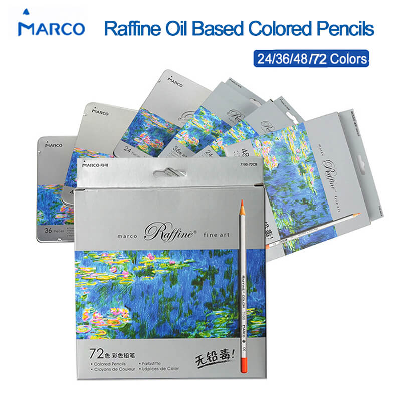 Marco Raffine 7100 Prismacolor Fine Art Oil Colored Pencil 24/36/48/72 Colors Professional Drawing Pencils Sketch Art Supplies