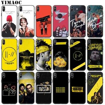 YIMAOC funda de teléfono de silicona blanda para iPhone, funda negra de TPU para iPhone 11 Pro XS Max XR X 6 6S 7 8 Plus 5 5S SE 10|Fundas antigolpes para teléfono|   -