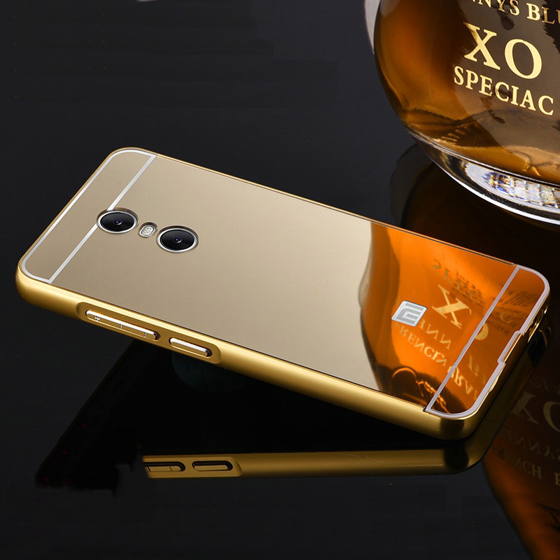 hot sale online 68dc4 6f0a5 US $3.99 |New For Xiaomi Redmi Note 4 Case Mirror Back Cover & Metal Frame  Hard Phone Housing Fundas For Xiaomi Mi Redmi Note4 on Aliexpress.com | ...