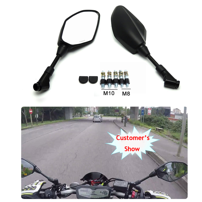 For <font><b>Yamaha</b></font> R3 MT07 MT09 R25 FZ6 FZ8 MT-03 Rear View Rearview Mirrors for BMW For Kawasaki Z750 Z800 Z1000 ER6N Accessories
