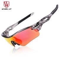 WHEEL UP New Design PC Full Coating Sport Sunglasses Polarized Outdoor Bicycle Glasses Waterproof Coating UV400 Bike Goggles