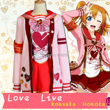 LoveLive! Love Live Kousaka Honoka Valentine's day Sweater Coat Outwear Tops Skirt Uniform Outfit Cosplay Costumes