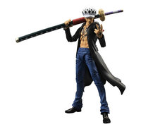 Hot NEW 18cm One piece movable Trafalgar Law Trafalgar D Water Law Action Figure toys doll Christmas gift