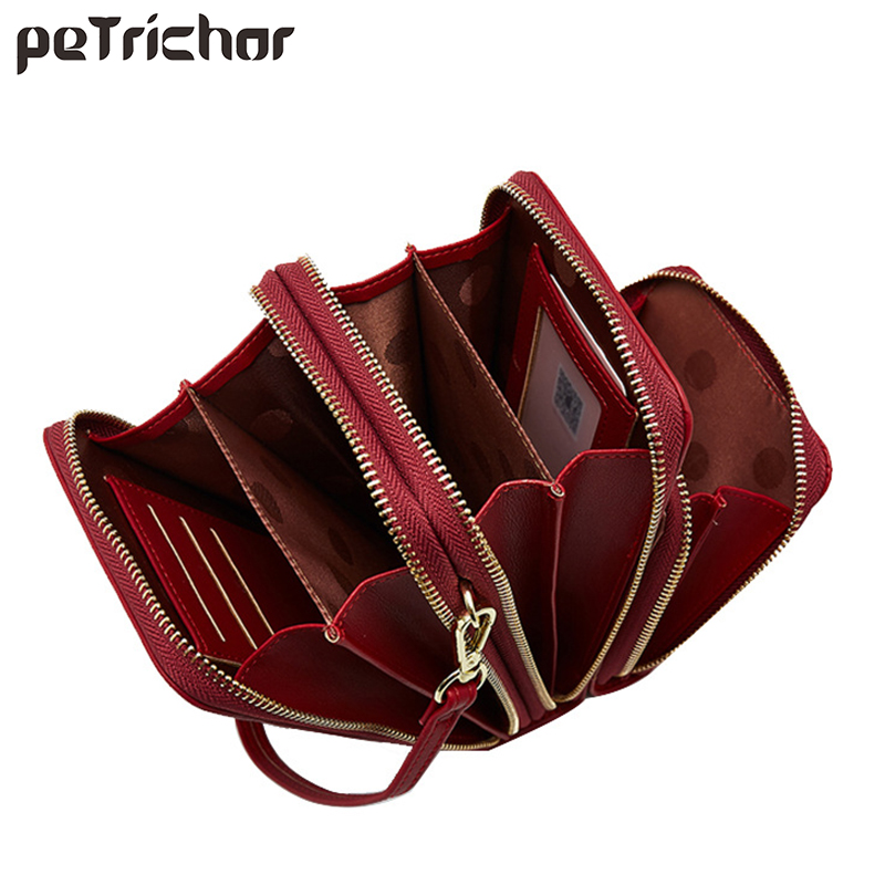 Luxury Leather Messenger Bags Women Clutch Mini Crossbody Shoulder Bag Female Large Capacity Phone Bag Ladies Purse With Zipper