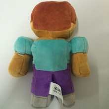 18cm Brown Minecraft Steve Zombie Plush Stuffed Toys Doll Soft Toy Brinquedos for Kids Children Christmas Gifts