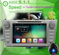 2 Din Android 5.1.1GPS Стерео Радио для Corolla Camry Автомобиль автомагнитолы с Dvd-плеер Bluetooth Wi-Fi Рулевого Колеса и БД