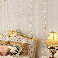 beibehang Luxury papel de parede 3D stripe Wallpaper Non woven Papel Parede Mural Wallpapers Roll 3D flooring Wall Paper wall