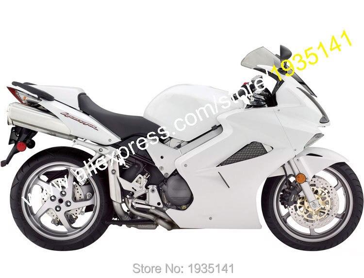 Hot Sales,For Honda VFR800 Body Kit 2002-2012 VFR 800 02-12 VFR-800 White Aftermarket ABS Motorcycle Fairing (Injection molding)