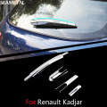 For Renault Kadjar 2015-2017 Car Rear Wiper Trim Covers Chrome Trim Chromium Styling Universal External Decoration Car-styling