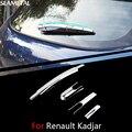 Para Renault Kadjar 2015-2017 Carro Limpador Traseiro Guarnição Covers Chrome Guarnição Chromium Styling Universal Externa Decoração Do Carro-styling