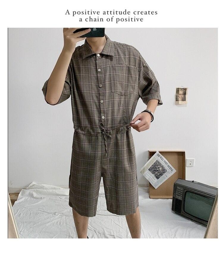 PADEGAO Марка Лето 2019 Свободные мужские повседневные шорты и короткие рукава с поясом цельный кост