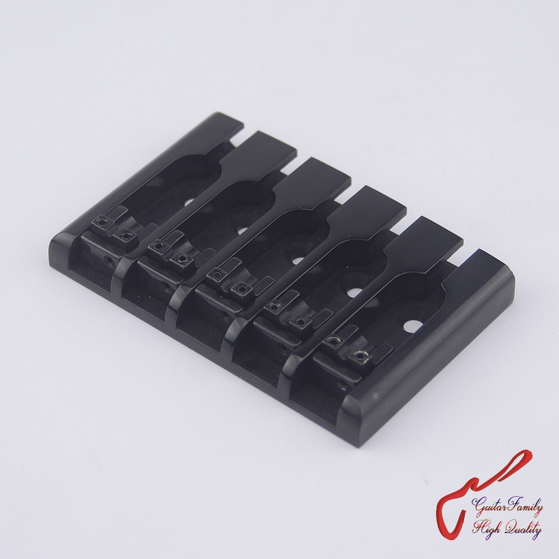 1 Set High Quantity GuitarFamily Deluxe Bass Bridge For 5 Strings Electric Bass Black MADE IN KOREA high quantity guitarfamily chrome 4 strings electric bass cloverleaf machine heads tuners r4 made in korea