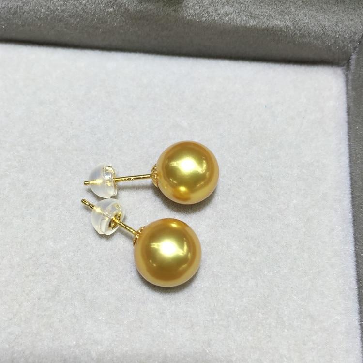 Femmes cadeau mot 925 en argent Sterling véritable perle importation Nanyang Kim boucles d'oreilles source d'eau de mer perle boucles d'oreilles oreille crochet roun