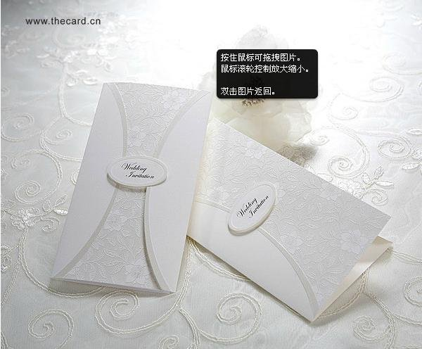 2011 NEW design wedding invitation card/wedding card/Exquisite ART Emboss with envolope/Free customized design/Free-shipping