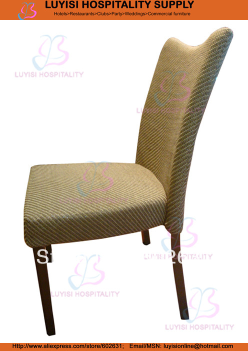 Stackable Metal Upholstered Restaurant Chair LUYISI973