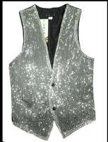 S-3xl新しい男性ベストスリム銀色pailletteのスーツベストチョッキステージダンスパーティー写真バーコーヒーショップギフト実行シンガー衣装