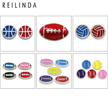 Wholesale 10pcs/pack Sport Styles Floating Charms For Glass Floating Locket Memory Living Necklace, Accept Custom(China)