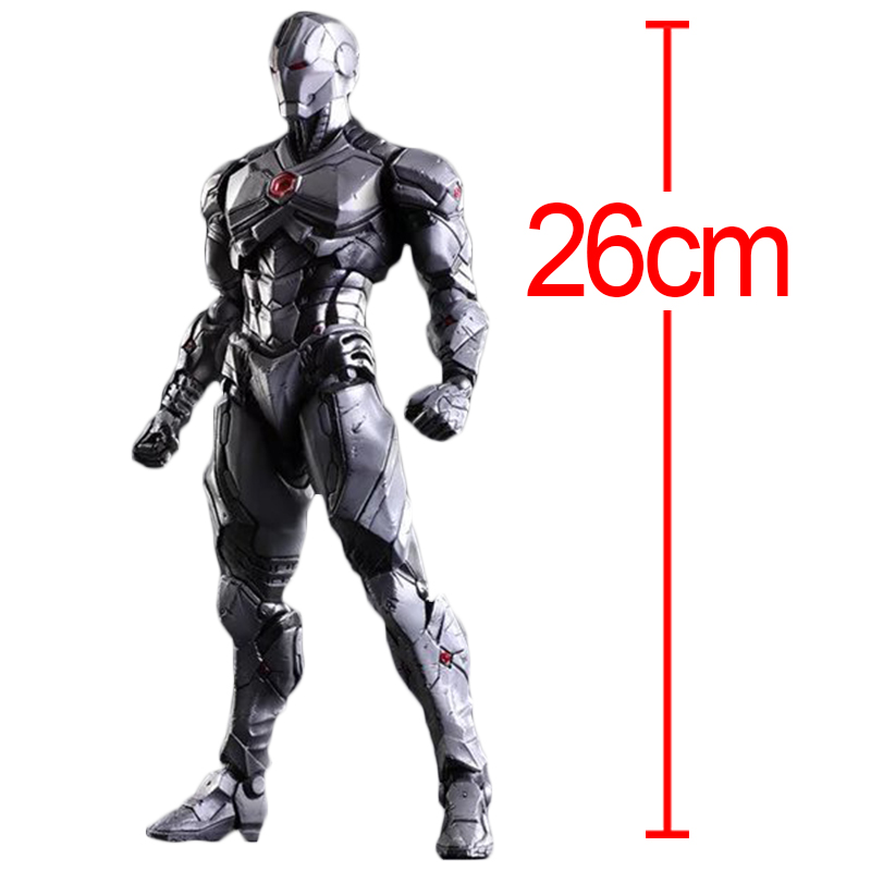 C&F Iron Man Anime Action Figure Toys Superhero Anthony Edward Stark Red Play Arts PVC Model Collectible Figures Toys For Gifts 30cm anime figure the avenger iron man red action figure collectible model toys for boys