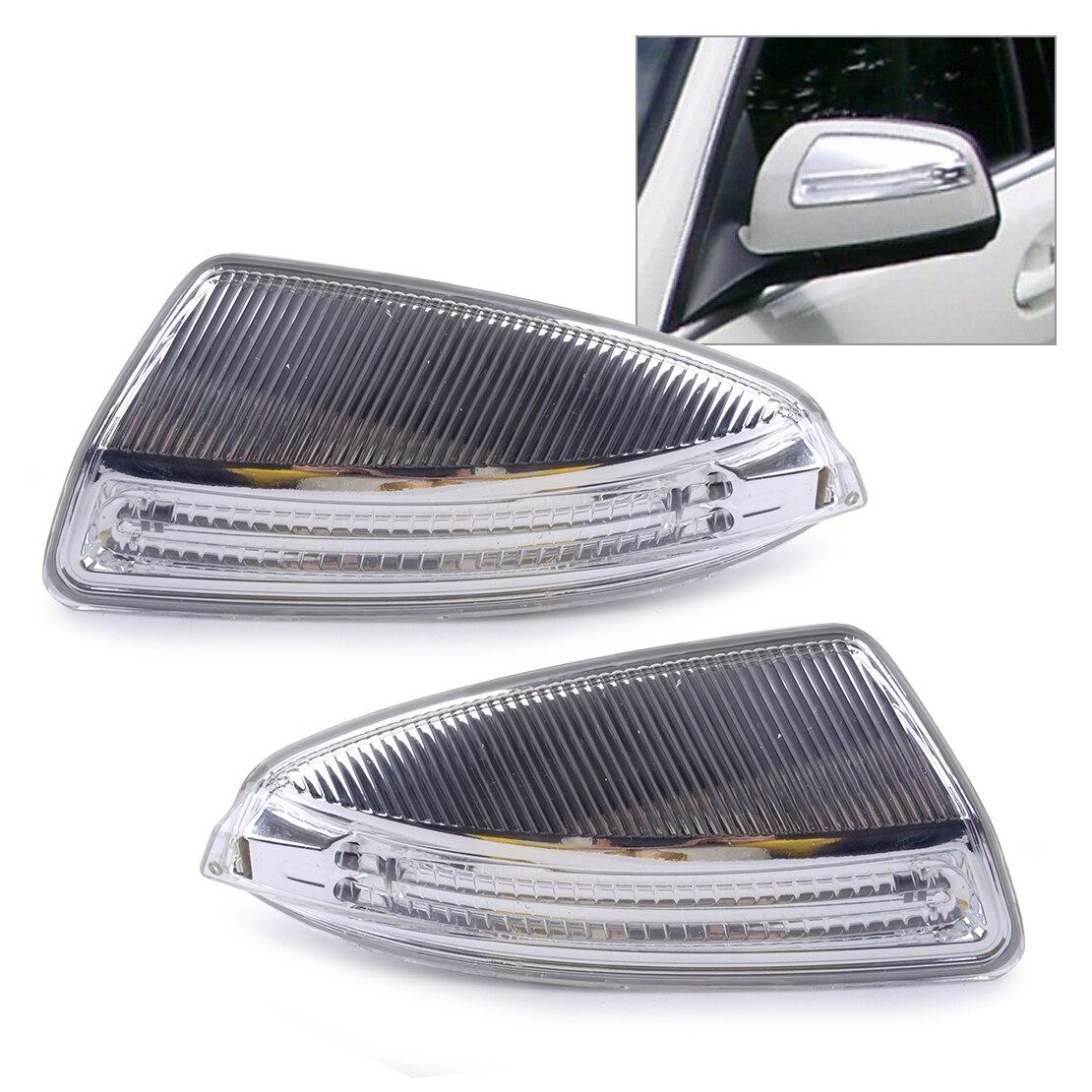 CITALL 1 Pair Car Rear Door Mirror Turn Signal Yellow Light 12V For Mercedes W204 C250