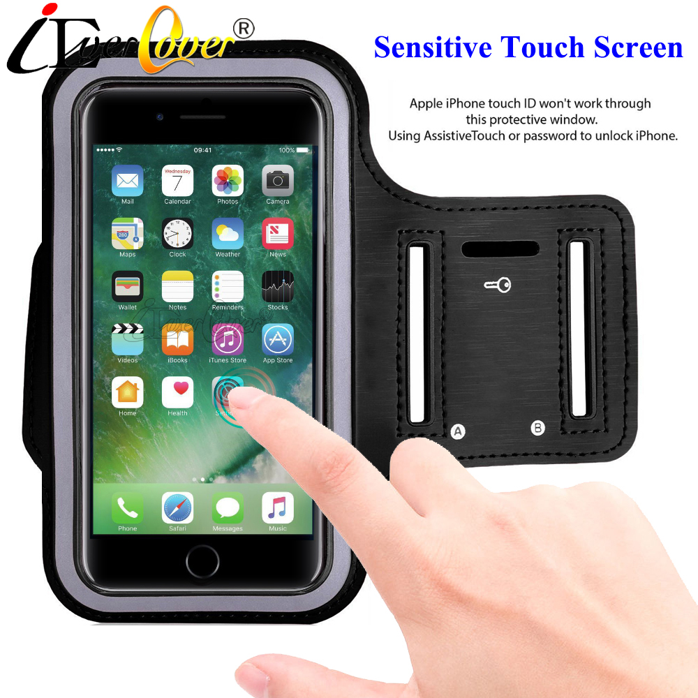 new style 119ce 4ebdb US $3.03 24% OFF iEverCover Sport Running Arm Band Case for Essential Phone  PH 1 5.7 inch Waterproof PU Leather Cover Cycling Pouch Bag-in Phone Pouch  ...
