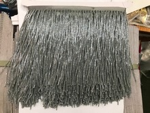 Grey color crystal Handmade 15cm wide beaded fringe trimming,5yard, about 270 beads threads/yard SGTM17