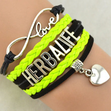 Silver Love Infinity HERBALIFE Jewelry Wholesale Woven Friendship Bracelets 1PC FREE SHIPPING