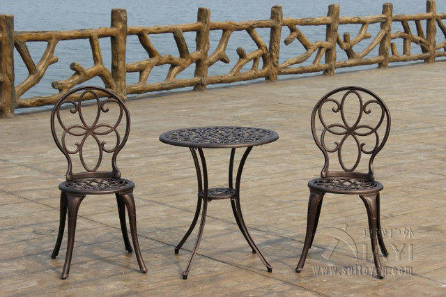 Garden Furniture 3 Piece aliexpress : buy 3 piece copper ring cast aluminum durable