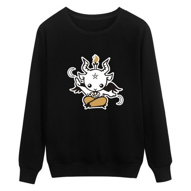 Satan Printing Winter Warm Casual Style Fashion Sweatshirt  And Cool Hoodies Men Brand Designer Mens Sweatshirt With Plus Size